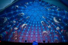Pepsi Superbowl - 80' Geodesic Amphitheater Projection Mapped. Vortex Immersion