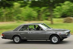 1971 Fiat 130 Coupé. This colour is quite stylish though a bit conservative. Looks good with a red leather interior.