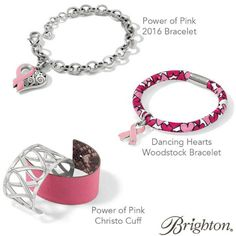 It's time! Brighton's 14th annual Power of Pink campaign starts today! Through October 31, a portion of proceeds from our limited edition Power of Pink items will be donated to breast cancer charities nationwide. Since 2003, we've raised more than $6 million for 300+ organizations. Our goal this year is to raise $400,000 for research, treatment and prevention. Together we make a difference.