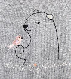 Bear and bird sweater