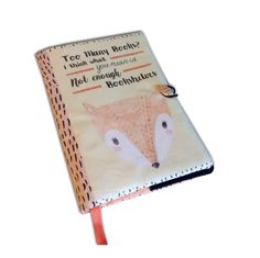 Book Cover Fox Handmade Book Cover Just one more by TsvetaHandmade