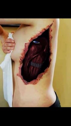 Attack on Titan tattoo.  I would never actually get this tattoo, but it's freakin' awesome!