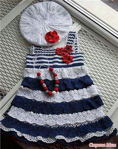 sailor crochet dress