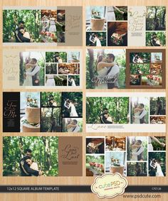 Wedding Album Template, Wreath White Wedding Album Template pages - - Fotobuch-Ideen - Photograpy Wedding Album Layout, Wedding Album Design, Wedding Photo Albums, Wedding Book, Wedding Photos, Party Wedding, Wedding Ceremony, Wedding Photography Poses, Mehendi Photography
