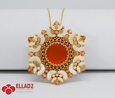 Beading Tutorial for Dahlia Pendant is very detailed, easy to follow, step by step, with clear beading instructions and color photos of each step.