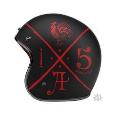 motorcycle helmet. typography