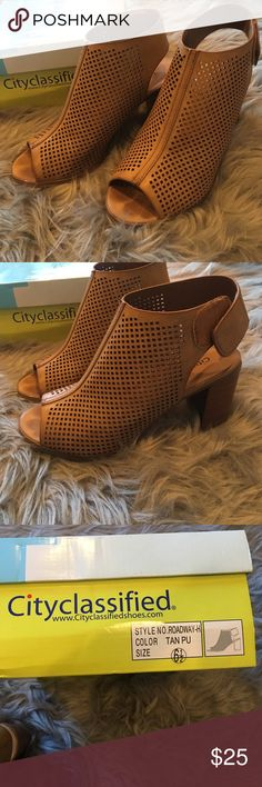 Cathy Jean Brown Heels Super cute, only worn once! Lower heel so they are also pretty comfortable! Cathy Jean Shoes Heels