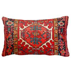 Persian carpet oriental rug pattern from Iran Throw Pillow