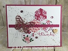 Love Blossoms, Bold Butterfly, Stampin' Up!, BJ Peters, Gorgeous Grunge