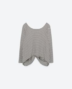 CROPPED HOUNDSTOOTH TOP - View all-TOPS-WOMAN | ZARA United States