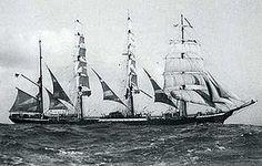 """Le quatre-mâts barque """"Pamir"""" en 1905"""