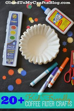 20+ Kid Friendly Coffee Filter Crafts {Roundup}