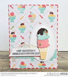 Hello everyone - Cathy Caines here I think by playing with ice cream and popsicle stamps, I can convince myself that it's Summer outside my froze bitten window. Oh yes, the calendar tells me it's Spring and that silly Shuebenacadie Sam groundhog supposedly saw his shadow but it couldn't be farther from the truth on…