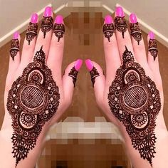Latest Most Beautiful Mehndi Henna Designs 2017 2018 Indian Arabic Back Hands