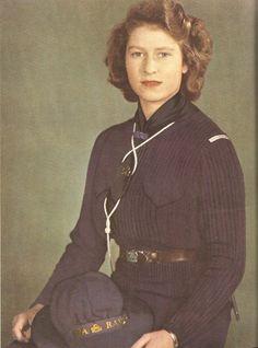 Queen Elizabeth II in her Girl Guide (scouts) uniform