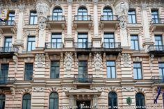 Riga, Latvia. European Capital of Culture 2014. Art Nouveau building on Alberta iela (now housing the Belgian Embassy).