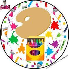 Fazendo a Propria Festa: Kit de Personalizados Gratuitos Tema Pintando o Sete