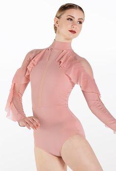 Weissman® Lyrical Costumes, Dance Leotards, Elegant Dresses, Ruffles, Polyester Spandex, Perfect Fit, Bodice, Bodysuit, Mesh