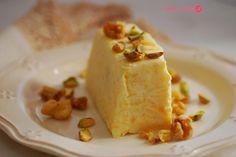Semifrío de melocotón y frutos secos. | Cuchillito y Tenedor