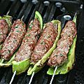 Pepper skewers stuffed with kefta Passion culinaire by Minouchka Sauce Recipes, Meat Recipes, Cooking Recipes, Grilled Recipes, Mince Dishes, Minced Meat Recipe, Kebab, Mediterranean Recipes, Vegetable Dishes