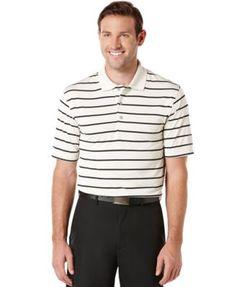 Pga Tour Striped Performance Golf Polo