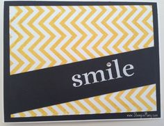 Chevron Cards are easy to do with Positively Chevron Background stamp from Stampin' Up!