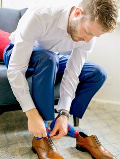 16 handsome, scruffy-faced grooms in honor of no-shave November Groomsmen Fashion, Groom And Groomsmen Style, Groomsmen Suits, Groom Attire, No Shave November, Shaving & Grooming, Stylish Suit, Cool Socks, Fashion Shoot