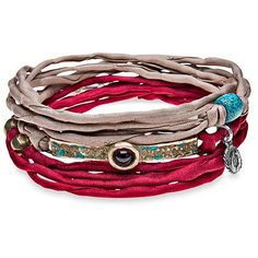 PLATADEPALO - Trend Red and Brown Silk Bracelet ($55) ❤ liked on Polyvore featuring jewelry, bracelets, accessories, red bangles, bracelet bangle, silk bracelet, bracelet jewelry and silk jewelry