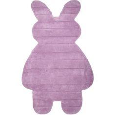 Idéal dans une chambre de fille, ce tapis enfant en forme de lapin fera plaisir à votre loopiote. Grâce à son design unique et sa couleur très girly, il apportera un peu de douceur et d'originalité à la pièce. Ce tapis lapin très confortable et soyeux créera un cadre très agréable pour votre enfant  Format : 85 x 140 cm Existe en 3 coloris