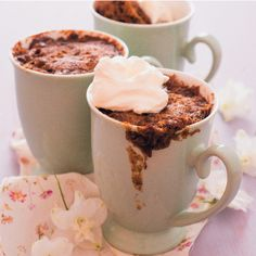Dessert in a snap? Whip up these mini sticky toffee puddings in your microwave!