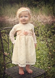 Stunning Shabby Chic Girls Lace Dress 6 Months to 5 Years - Womens Boutique Clothing - Cassie's Closet