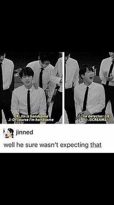 Omg Jin lol his ego is hurt!