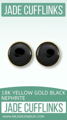 Beautiful, large bombe style round black jade set in 18K yellow gold cufflinks. Use discount code INSTA10JORDAN at checkout! Black Gold, Jade, Cufflinks, Jewels, Yellow, Etsy, Jewellery, Nature, Shop
