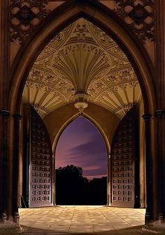 University of Cambridge UK. A breathtaking entrance and vista at one of the world's oldest universities!