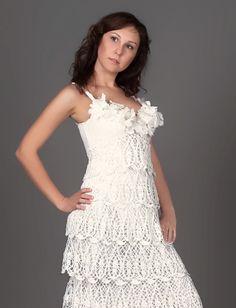 Exclusivo ganchillo largo boda vestido elegante por LecrochetArt, $1100.00