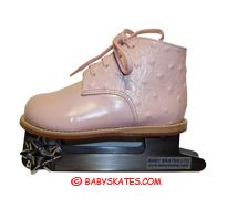 So little! Precious pink baby skate - for your toddler or child to take to the ice skating rink.  Babyskates.com