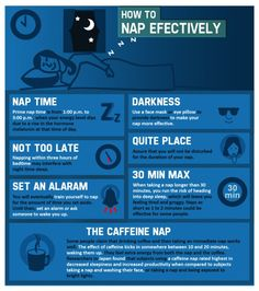 """How to nap effectively [infographic]  Note: if I made an infographic, I'd proof it for spelling errors. I'm sure they meant to say """"Quiet place"""" instead of """"Quite place""""."""