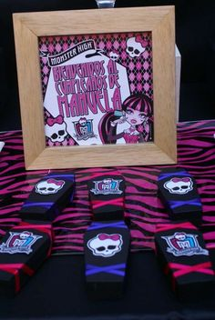 Monster High Birthday Party Favors!  See more party planning ideas at CatchMyParty.com!