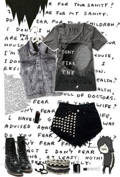 """""""The only thing we have to fear is fear it'self."""" by yeah-boy-and-doll-face ❤ liked on Polyvore"""