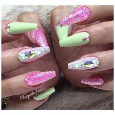 Spring nails green #nails #teamvalentino #coffinnails #nailart #MargaritasNailz #vetrogel #pinknails #nailfashion#glitternails#naildesign #nailswag#hairandnailfashion#nailedit #nailprodigy#nailpromagazine #nailsofinstagram #nailaddict #nailstagram #nailtech #nailsoftheday#nailporn#nailedit #nailitdaily#nailsmagazine#nailpro #nails2inspire #nailpromote#naildesigns#nailideas#springnails