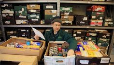 Trussel Trust Foodbank - Sorting food donations