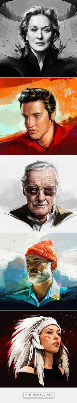 Portraits on Behance - created via https://pinthemall.net Viktor Miller-Gausa