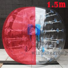Red-Human-Knocker-Ball-Bubble-Soccer-Body-Zorbing-Ball-Inflatable-Bumper-4-92ft
