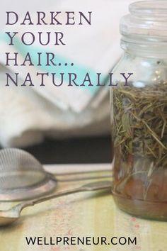 A DIY hair rinse that darkens your hair – naturally! Dyed Natural Hair, Natural Hair Styles, How To Darken Hair, Diy Haircare, Hair Color Cream, Natural Beauty Recipes, Hair Rinse, Tea Stains, Diy Skin Care