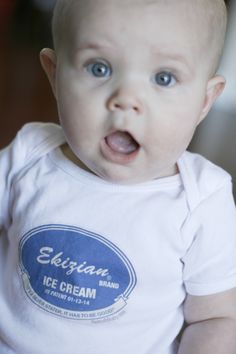Chillin' in one of our refreshing Ice Cream bodysuits