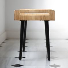 wooden Stool / tray / bench made on solid oak board by Habitables
