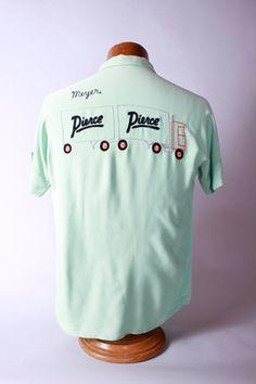 Vintage 1950s Bowling Shirt Rayon RnR Rockabilly by FabGabs