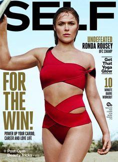 UFC Bantamweight champion @ Ronda Rousey - SELF Magazine, November 2015
