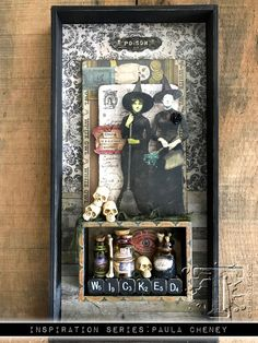 2017 inspiration series: idea-ology halloween… | Tim Holtz; Oct 2017 #timholtz #rangerink #sizzix #stampersanonymous #distressoxides #paulacheney #halloweenmixedmedia #halloweenhomedecor