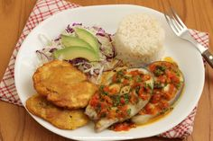 Cocina – Recetas y Consejos Healthy Cooking, Cooking Recipes, Healthy Recipes, Caribbean Fish Recipe, Fish Recipes, Seafood Recipes, Columbian Recipes, Nicaraguan Food, Colombian Cuisine